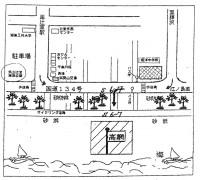 地曳網案内図