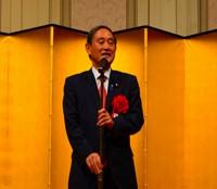 御多忙の中、菅官房長官からご挨拶を頂きました。